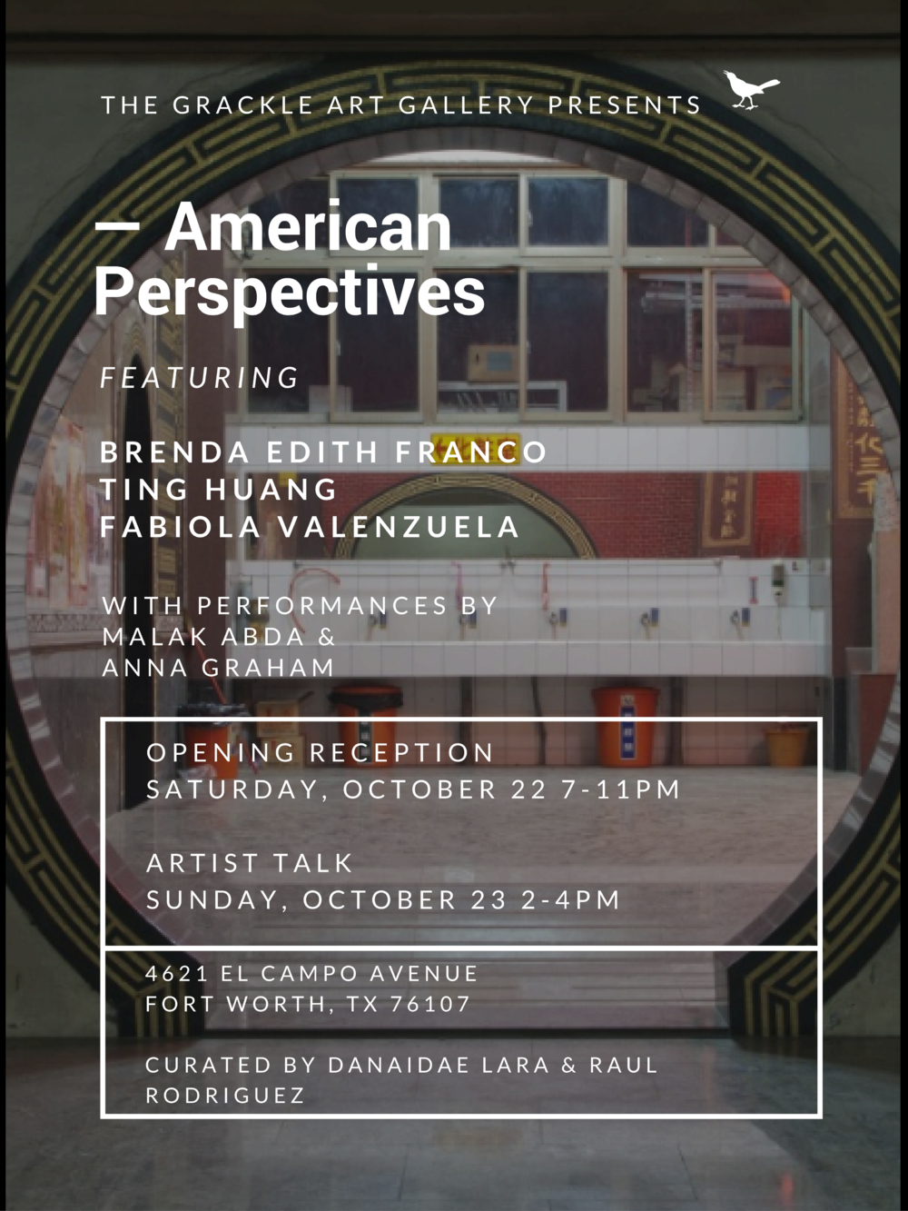 -American Perspectives curated by Raul Rodriguez and Dee Lara at the Grackle Art Gallery