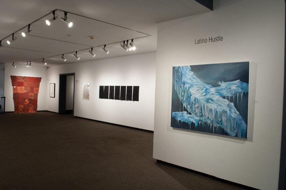Latino Hustle: Brindis at the Fort Worth Community Arts Center; Melissa Herrera, Fabiola Valenzuela, Ricardo Orozco, Brenda Edith Franco, Arnold Hurtado curated by Latino Hustle