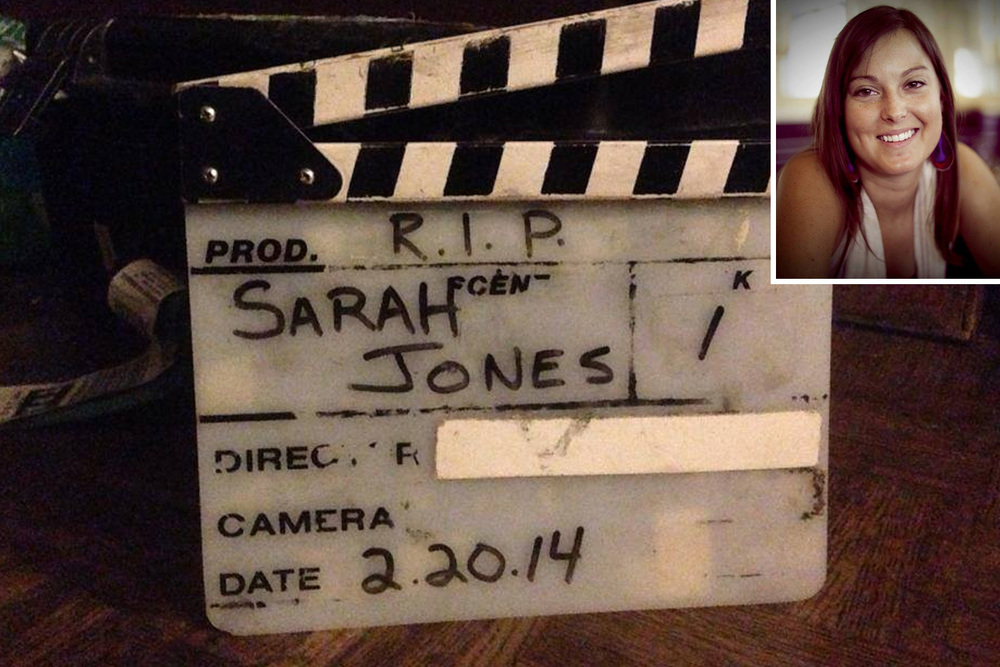 Slates for Sarah has been one of the most recognizable forms of acknowledgement for film crews to show their respects.
