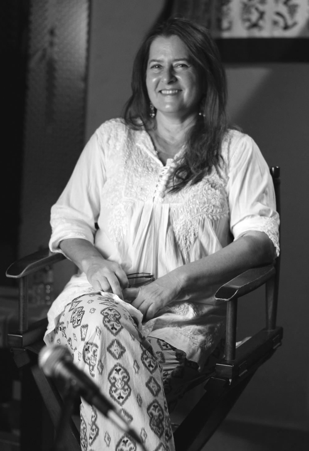 Karyn in directors chair