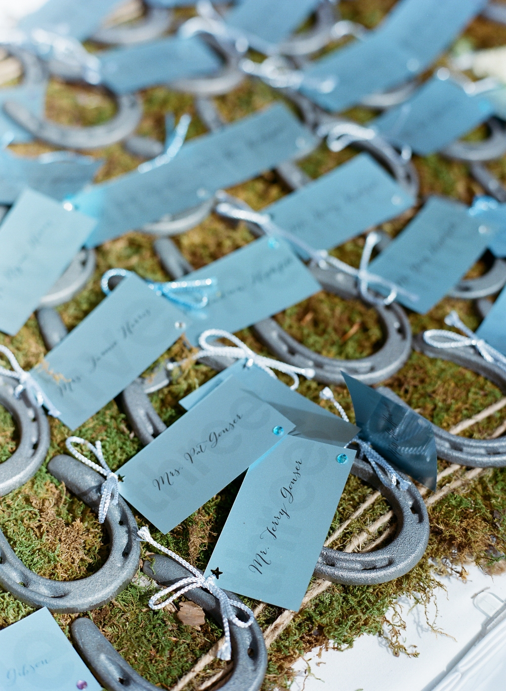 ranch wedding place cards