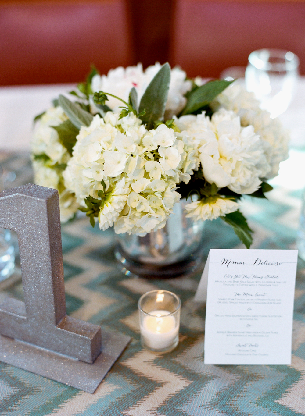 silver wedding centerpieces