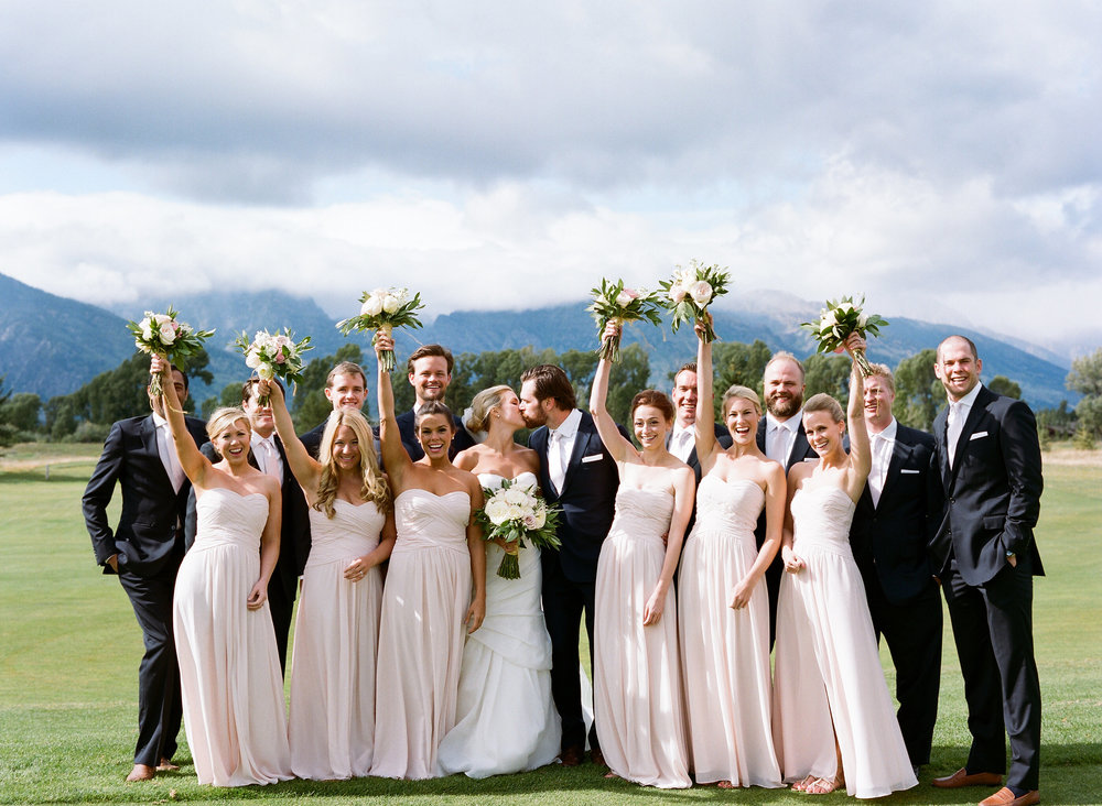Jackson Hole Golf and Tennis Club summer wedding