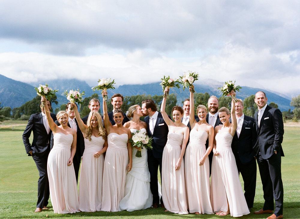 Jackson Hole Golf and Tennis Club summer wedding