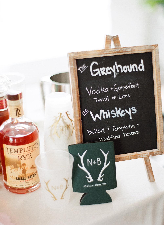 Jackson Hole wedding speciality drinks