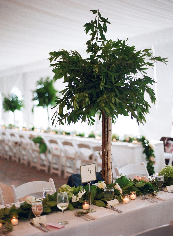Jackson Hole wedding long tables