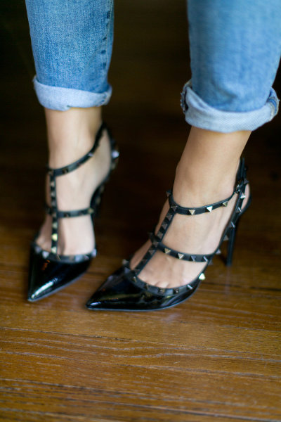 heels and jeans