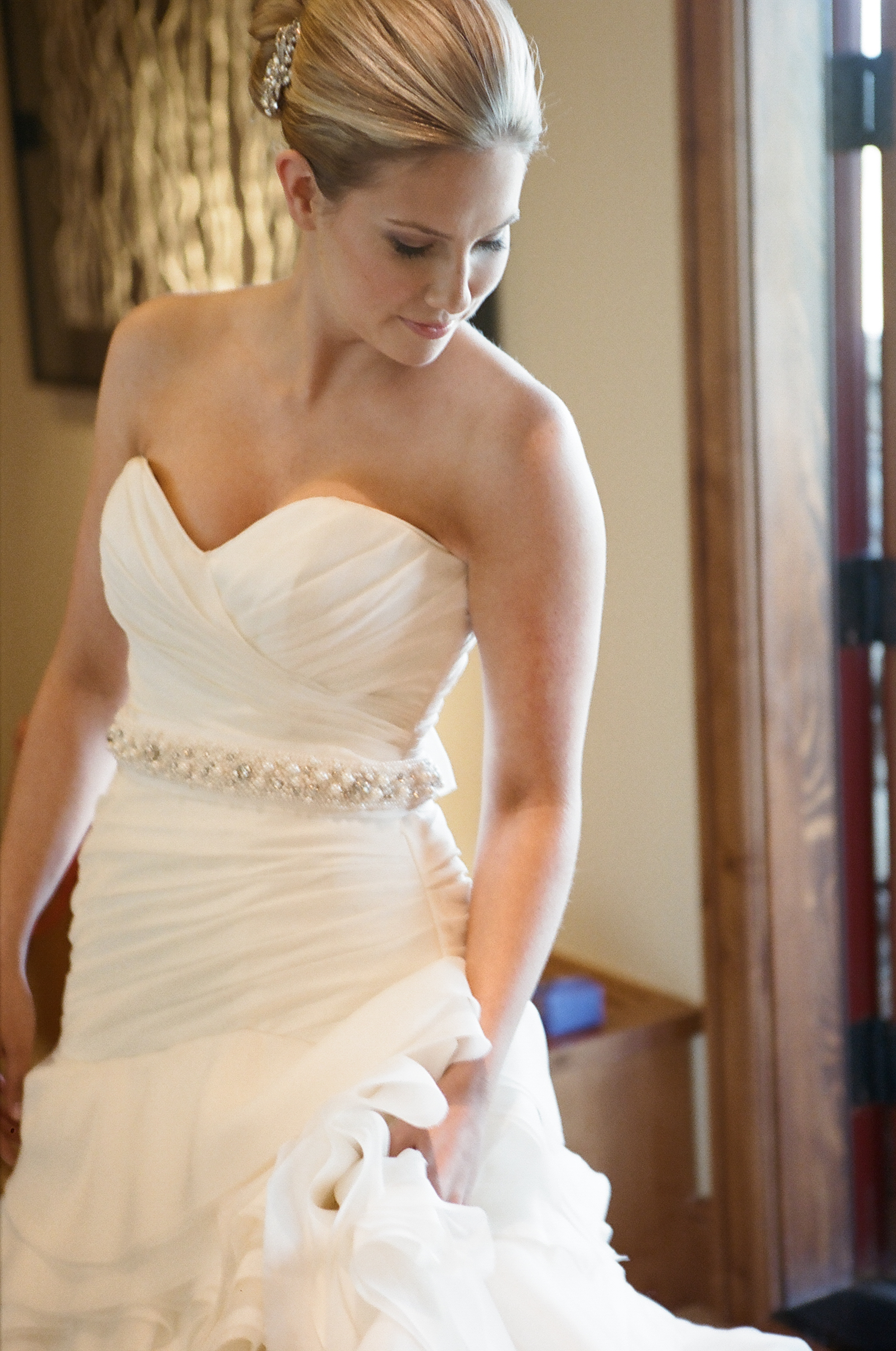 strapless wedding dress photos