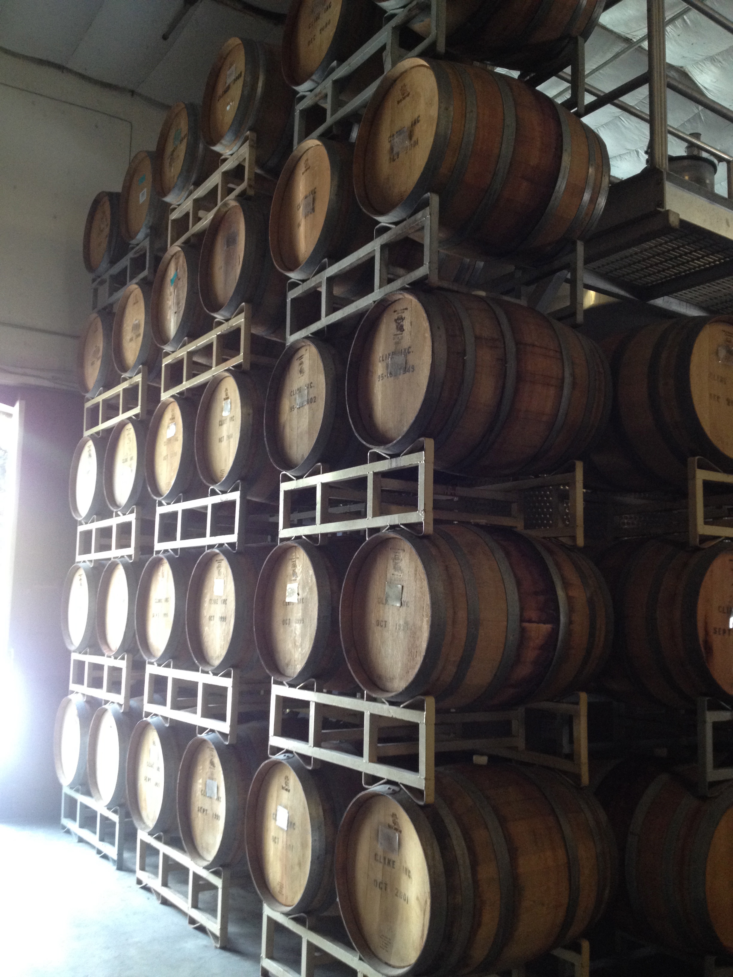 Barrels by the entry, barrels every where!
