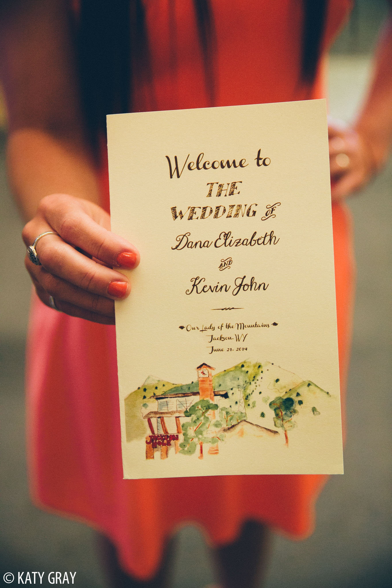 Jackson Hole wedding program
