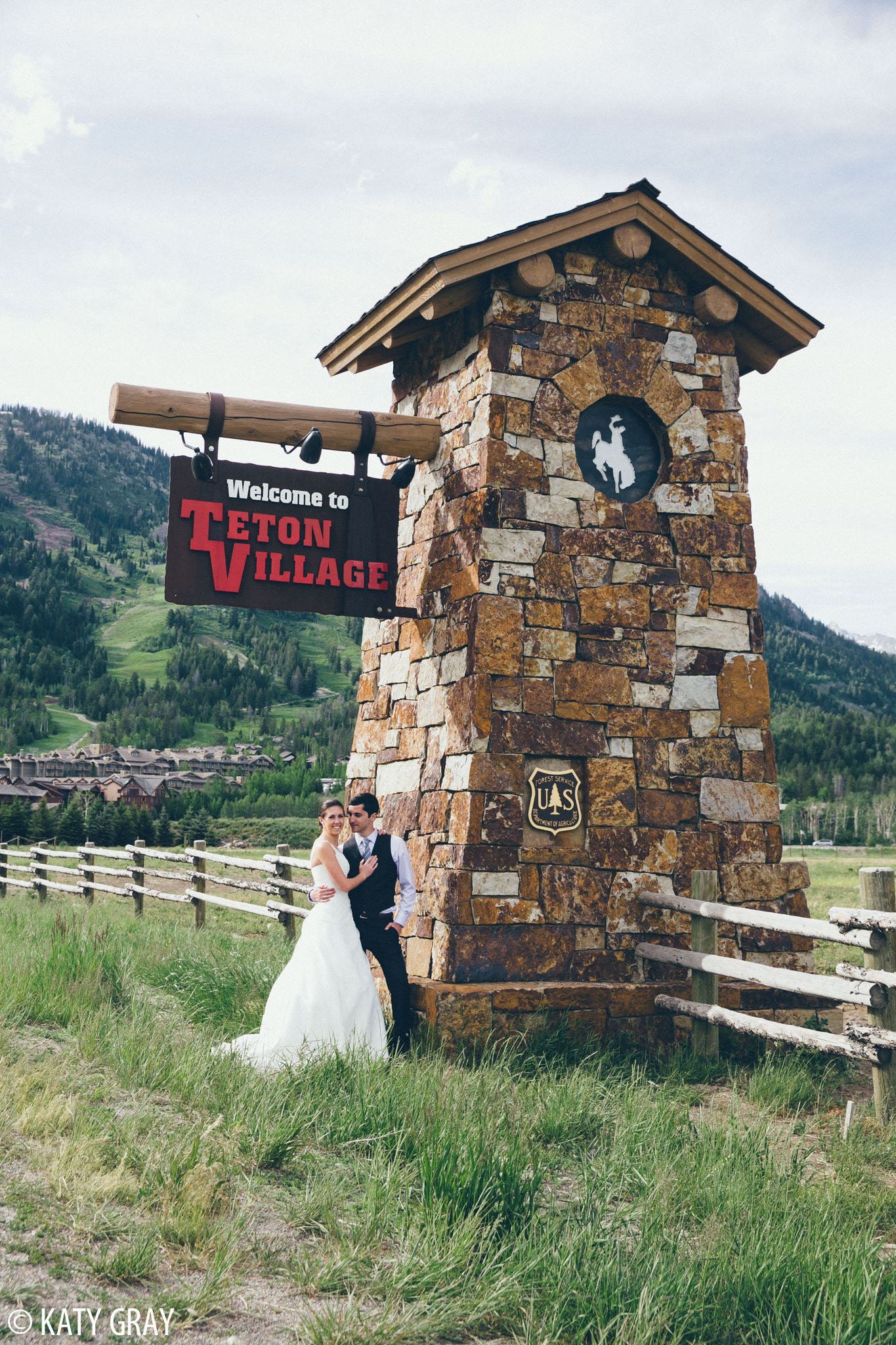 Teton Village wedding photo