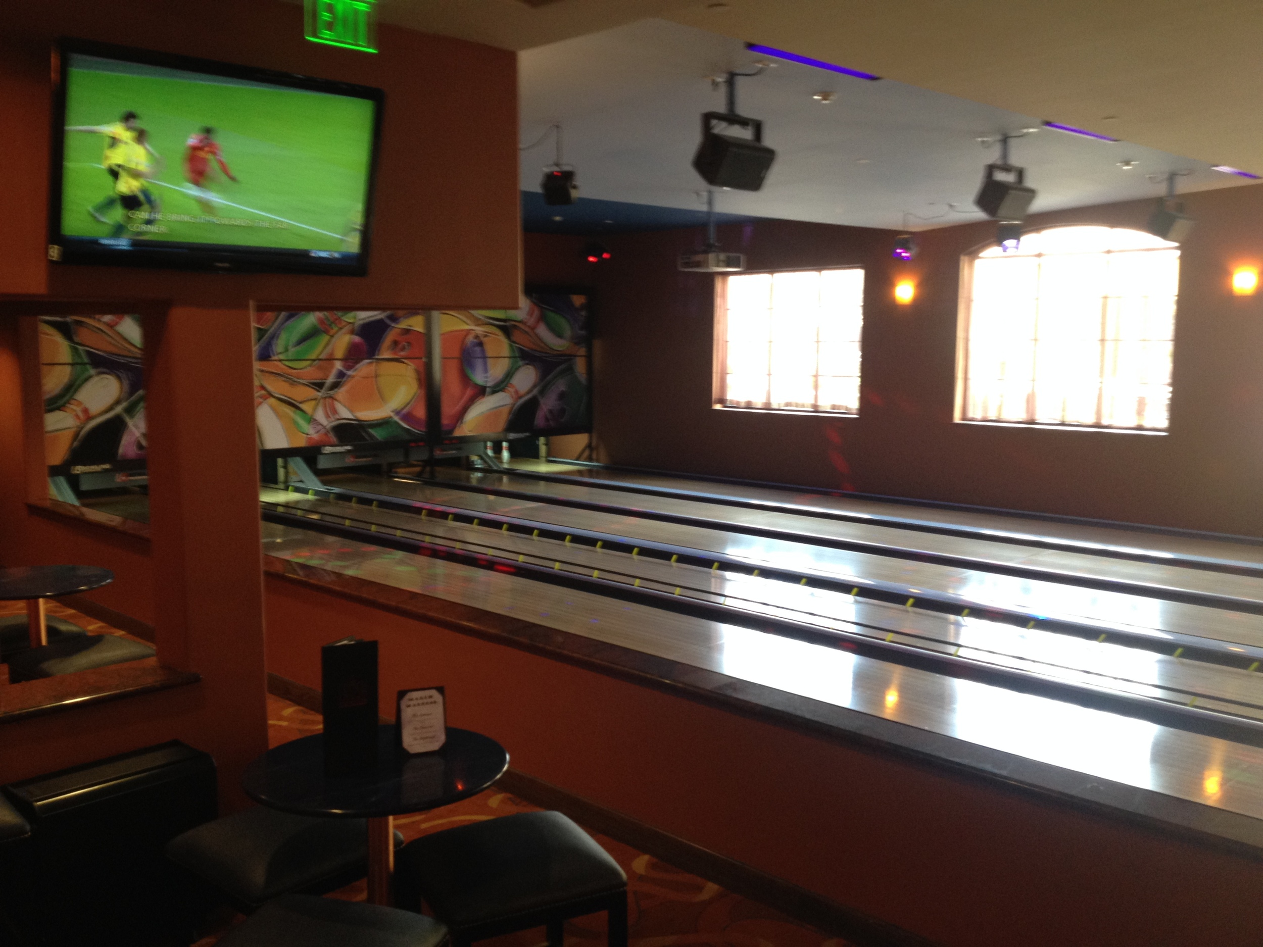 Bowling alley at Silverado Resort