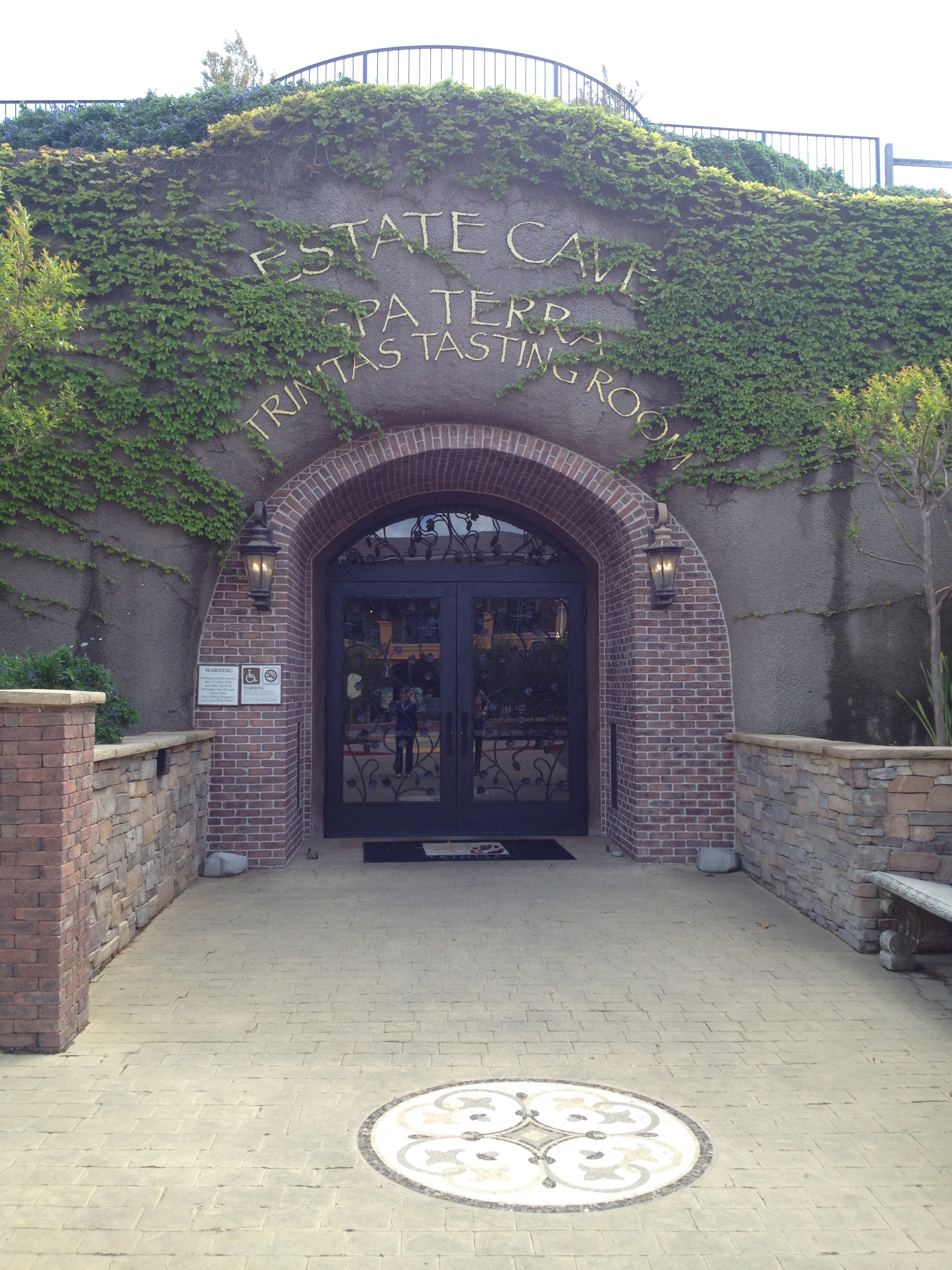 wine cave entrance at Silverado Resort