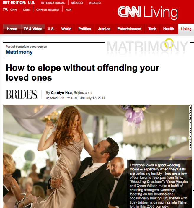 CNN How to Elope Without Offending Your Loved Ones