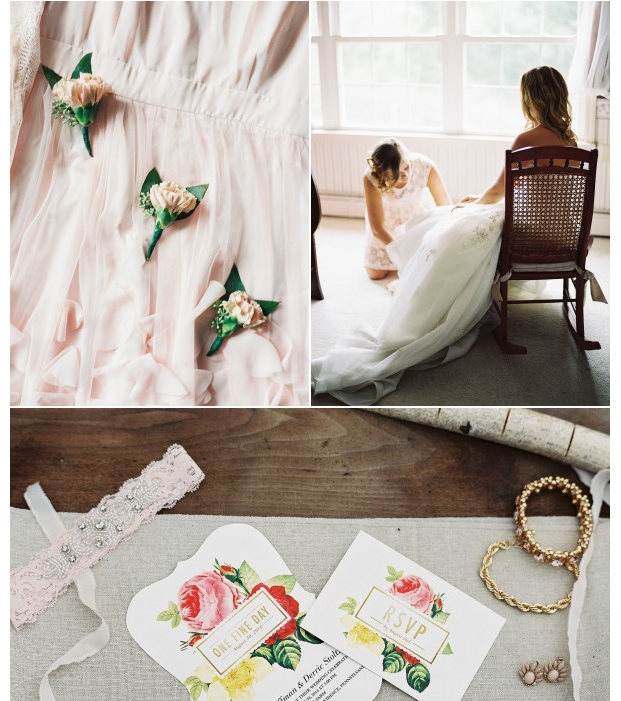 Style Me Pretty whimsical blush and gold al fresco wedding 2