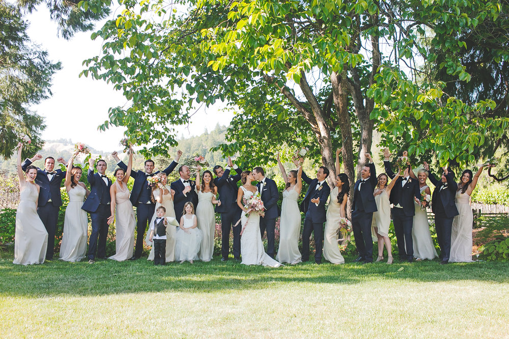 Wine Country Wedding Party Celebrations