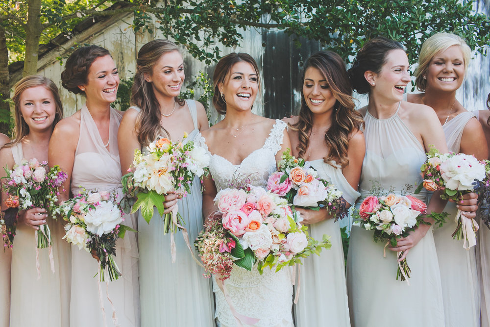 Wine Country Wedding Bridal Party