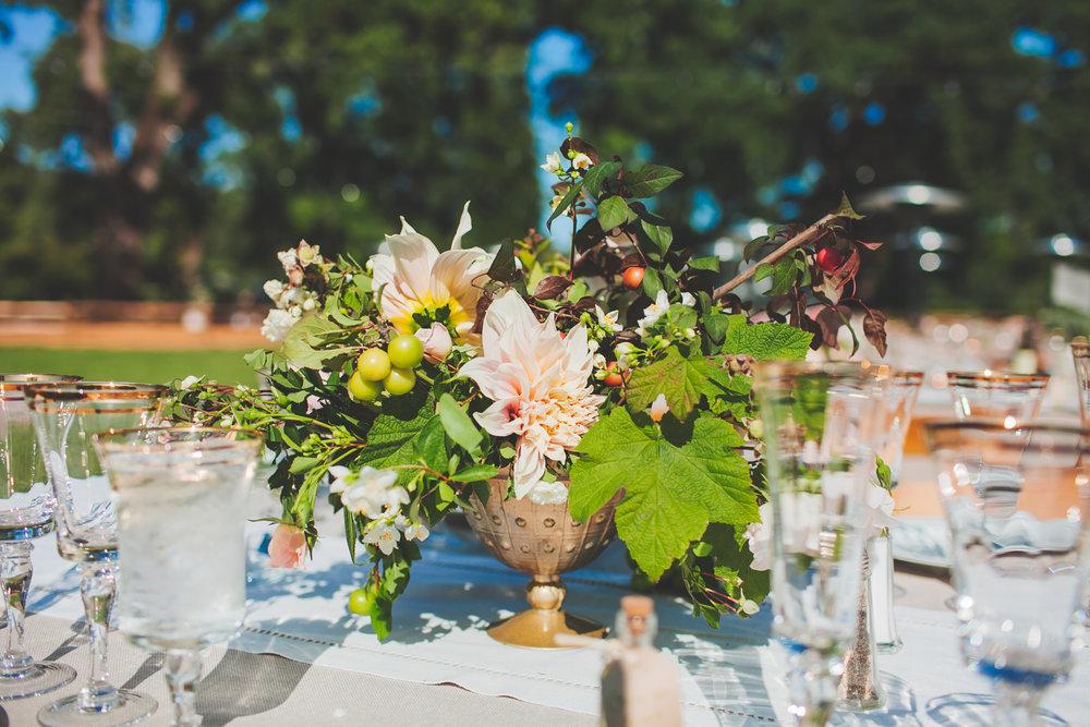 Wine Country Wedding Table Decor