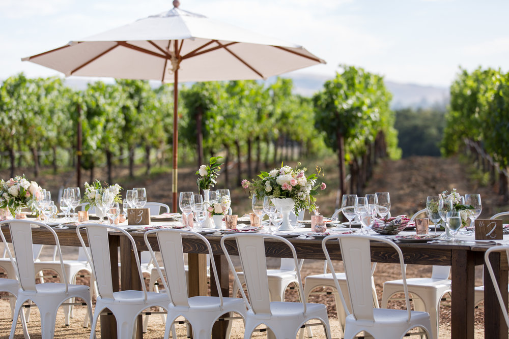 Napa Sonoma Winery Wedding Decor