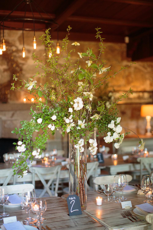 Whetstone Winery Napa Wedding Table Decor