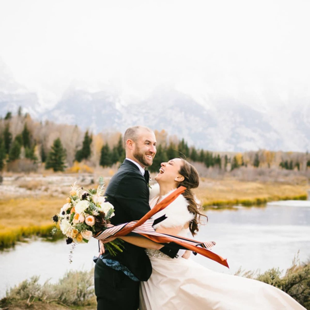 Four Seasons Jackson Hole Rustic Glamour Wedding