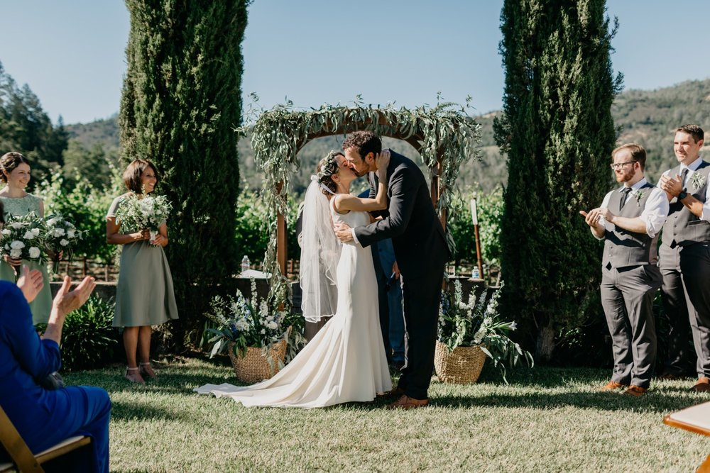 Napa Vineyard Wedding Alter