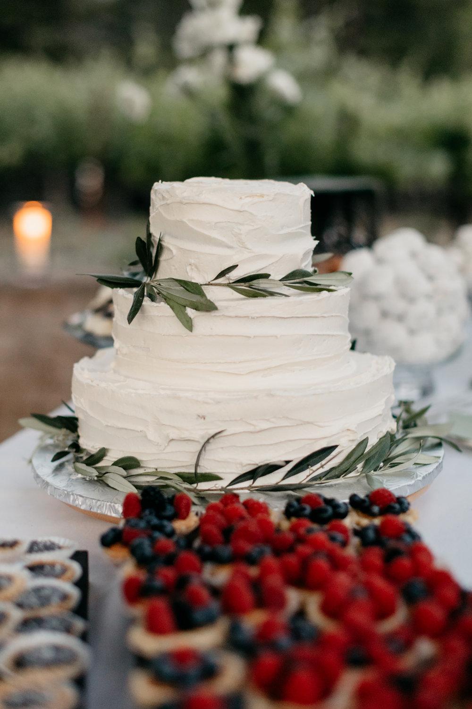 Wedding Cake Rustic Vineyard Wedding