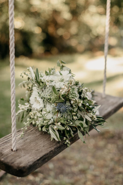 Floral Design Bouquet Rustic California Vineyard Wedding