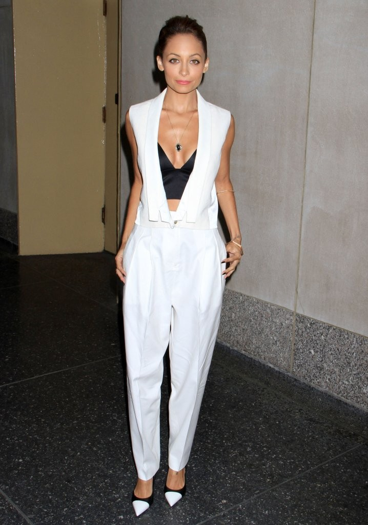 nicole-richie-the-today-show-j-brand-spring-2013-vest-white-trousers-alexander-wang-satin-bra-top-saint-laurent-leather-cap-toe-pumps-1.jpg