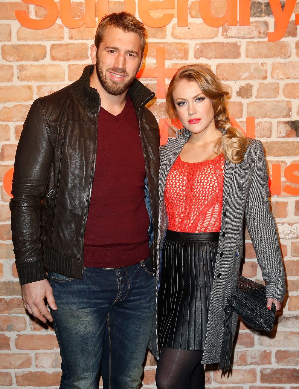England Rugby Captain Chris Robshaw and Presenter Pips Taylor