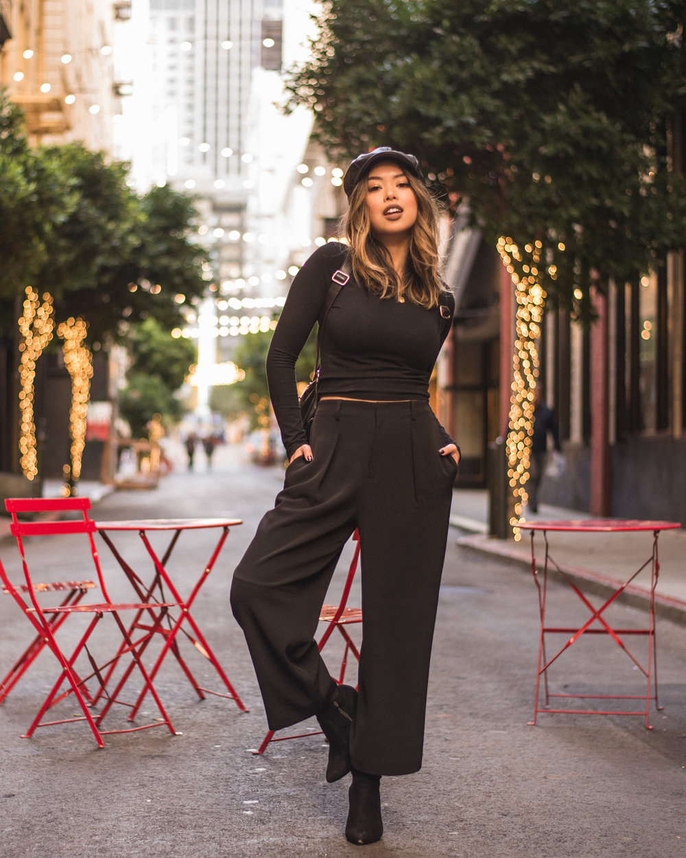 Uniqlo wide leg cropped trousers forever 21 cabby hat newsboy hat rebecca minkoff julian backpack groceries apparel top public desire janine over the knee boots maiden lane victoria ly victorialamode