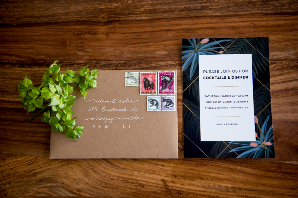 Dinner Party Jungle Invitation