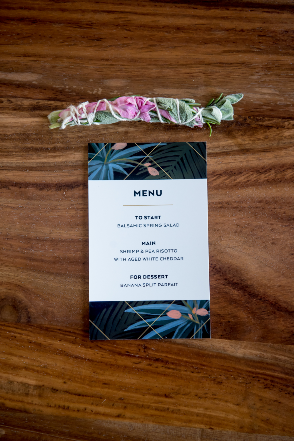 Dinner Party Menu Stationery