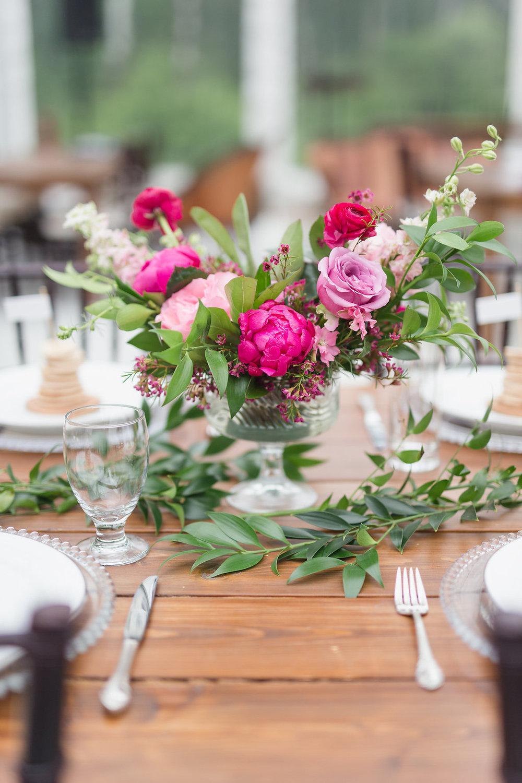 Pink Floral Centrepiece