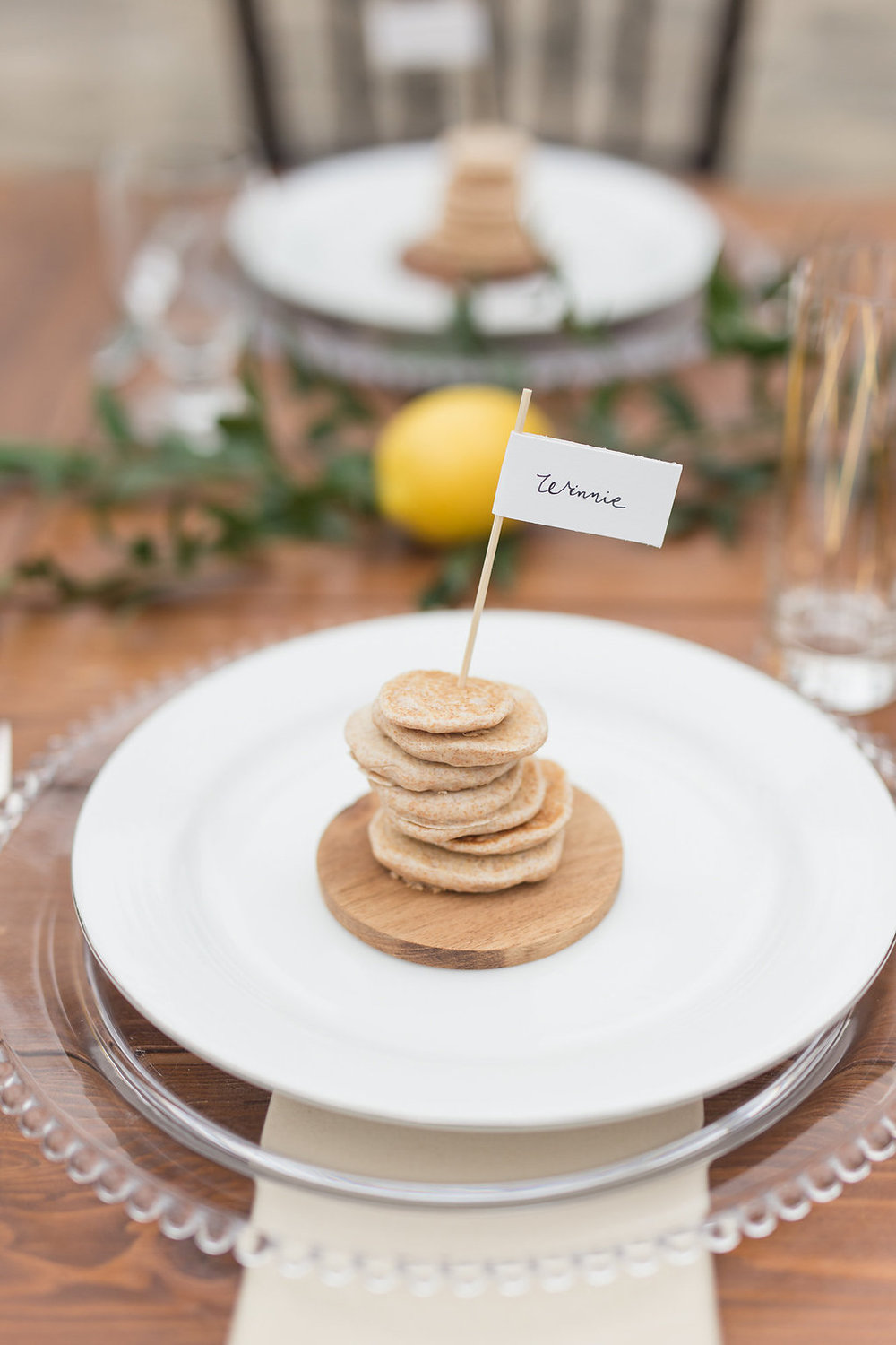 Brunch Pancake Placecard