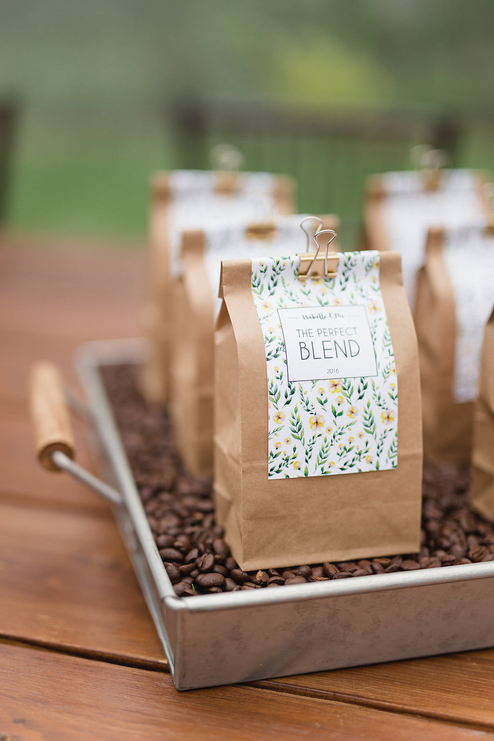 Coffee Wedding Favour Tray