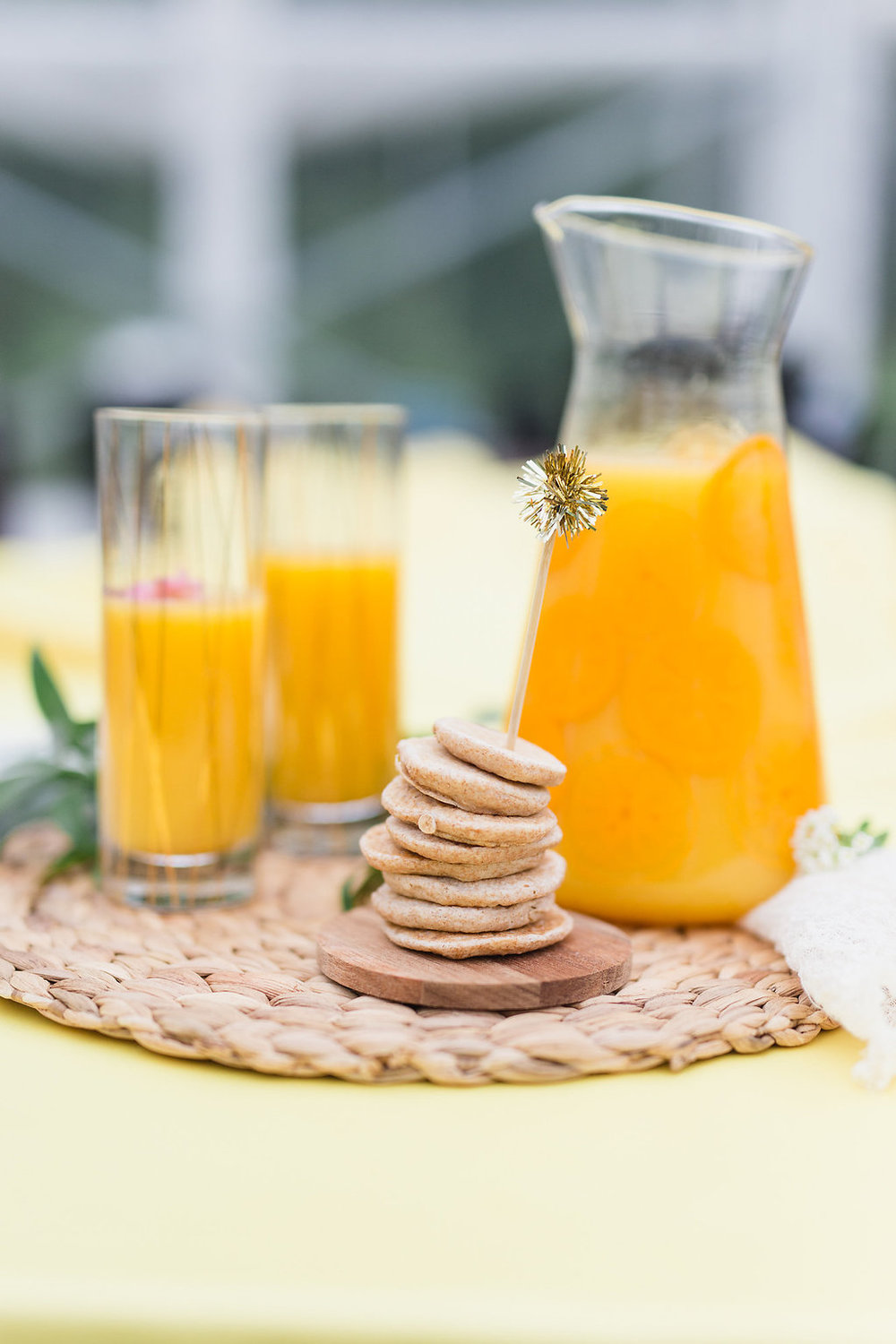 Sunrise Brunch Wedding Orange Juice Detail Inspiration