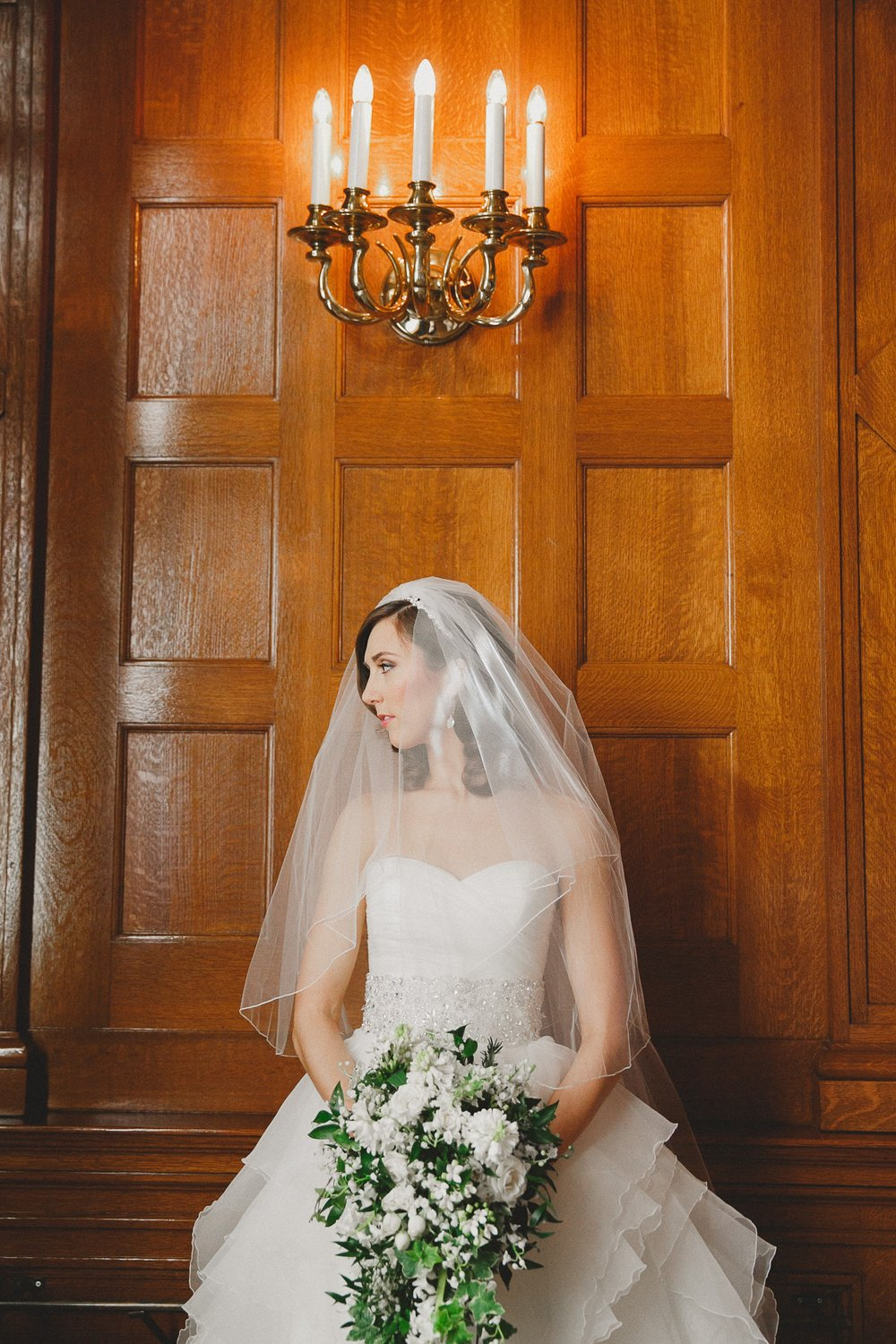 Winnipeg Winter Bride in Justin Alexander at Fort Garry Hotel Winnipeg Manitoba