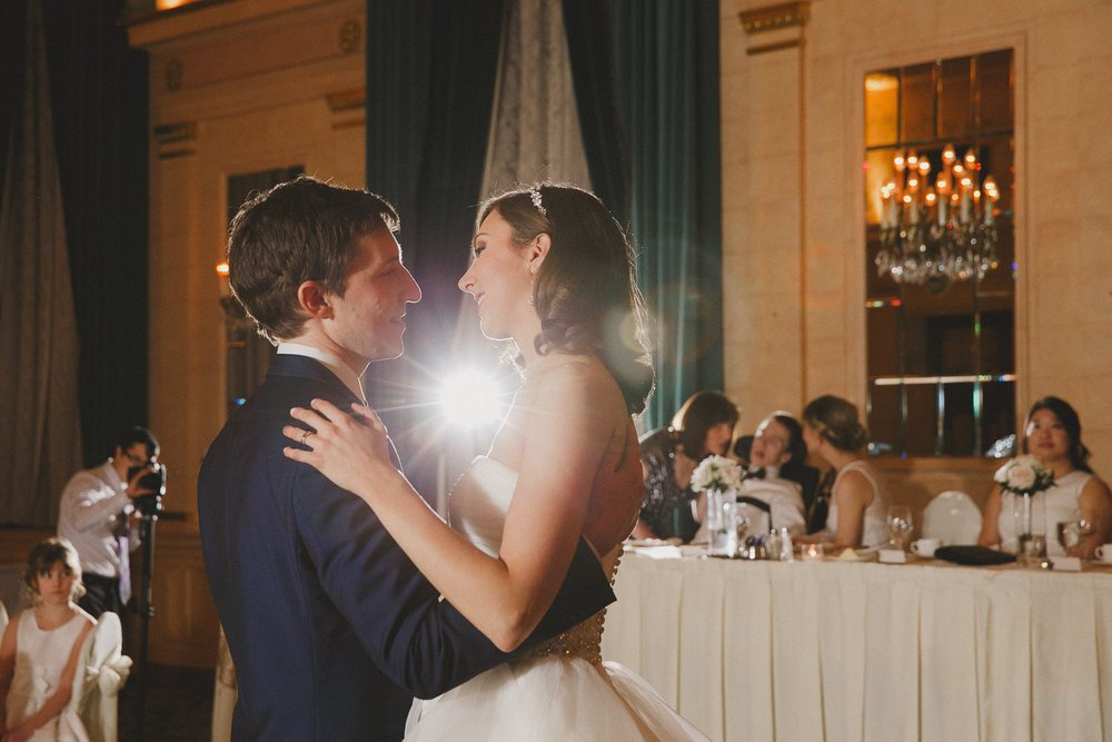 First Dance at Fort Garry Hotel Crystal Ballroom