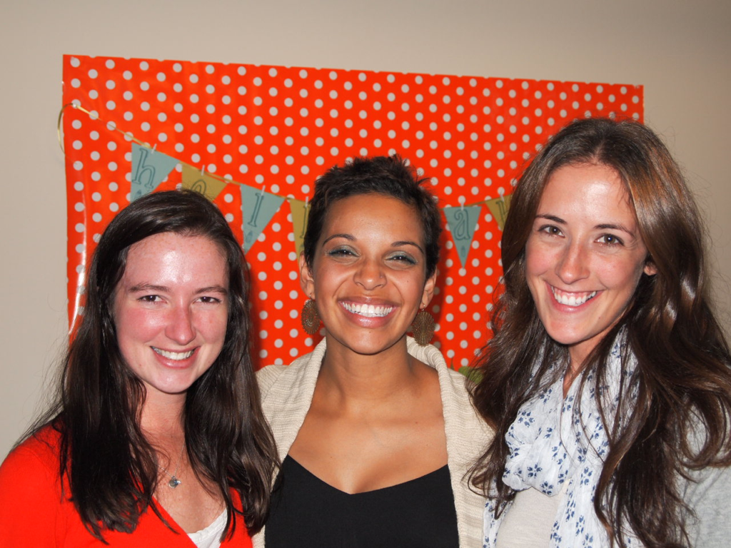 the ladies at my shower.  thank you for REALLY showing up for me last week.  and for growing up with me.