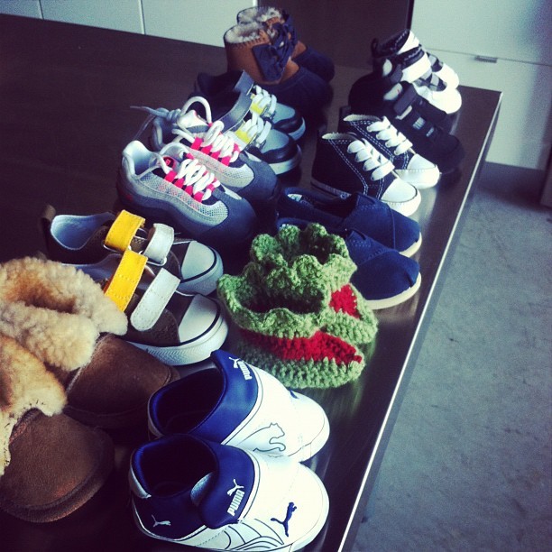 bean's shoe collection. (Taken with  instagram )