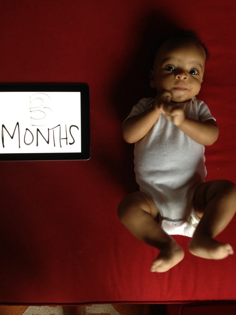 3 months (+ 1 week and a day.  bad, i mean, busy mama.)