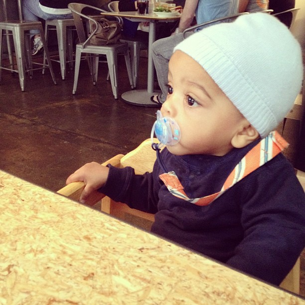 brunch date with my little boy. (at Cafe Lift)