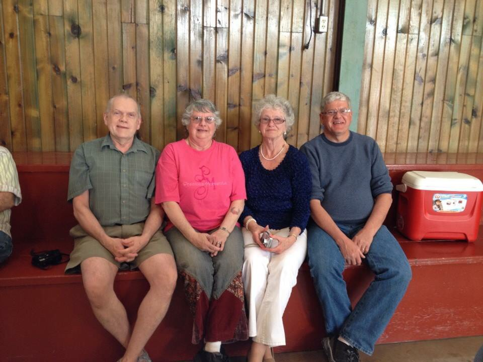 my awesome dad (left) with three of his four siblings, all still living in small-town iowa.