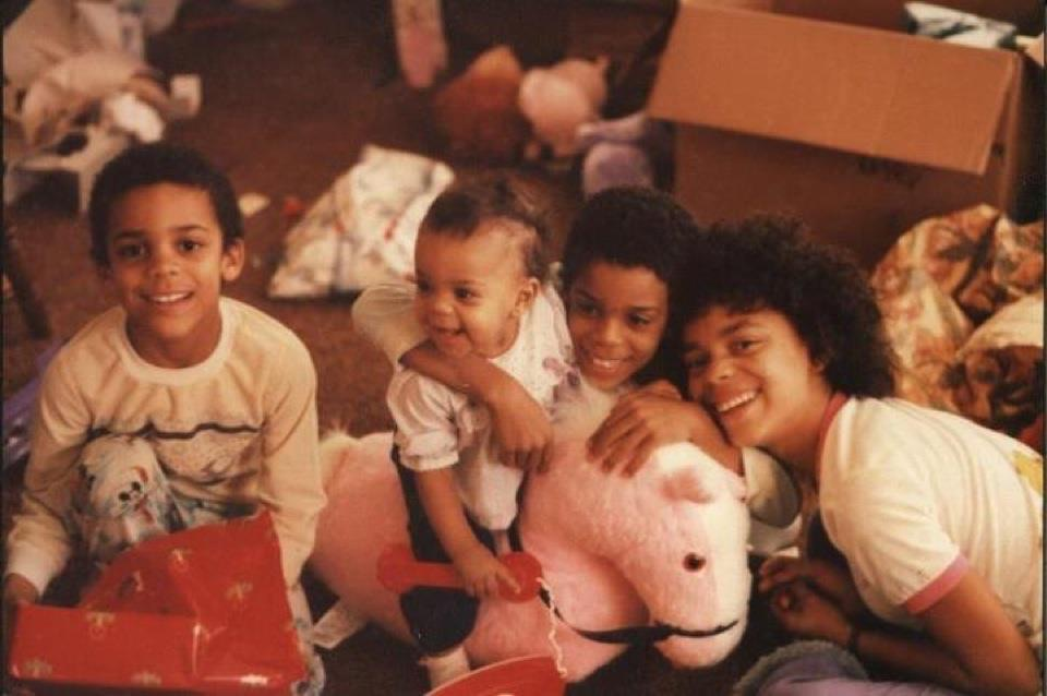 cress family christmas morning (missing the biggest brother) circa 1986.