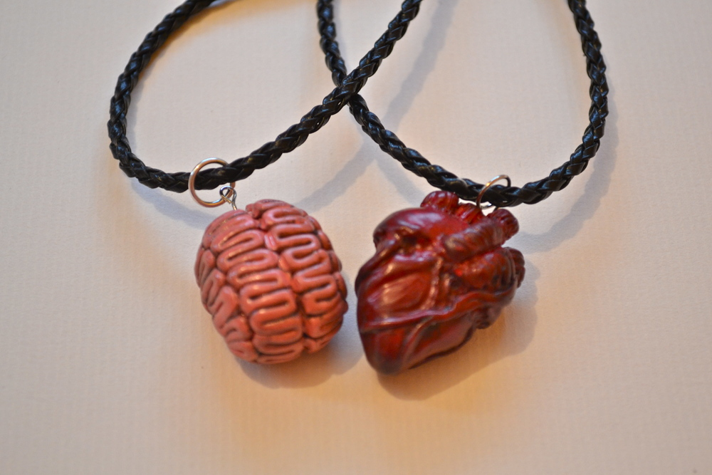 Brain and Heart Necklaces