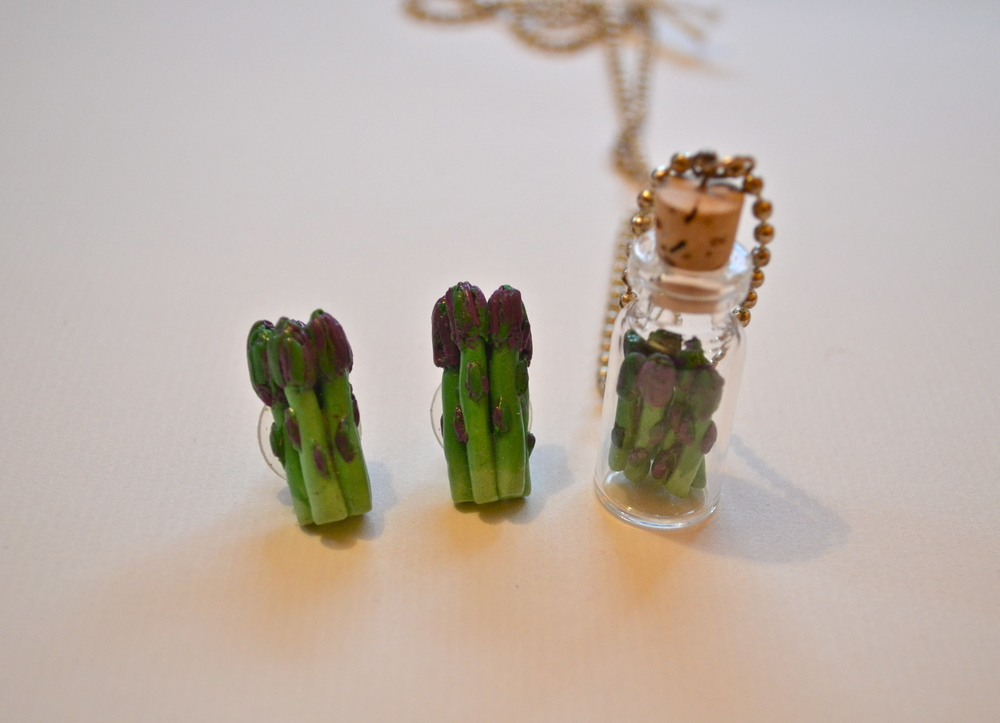 Asparagus Earrings and Necklace