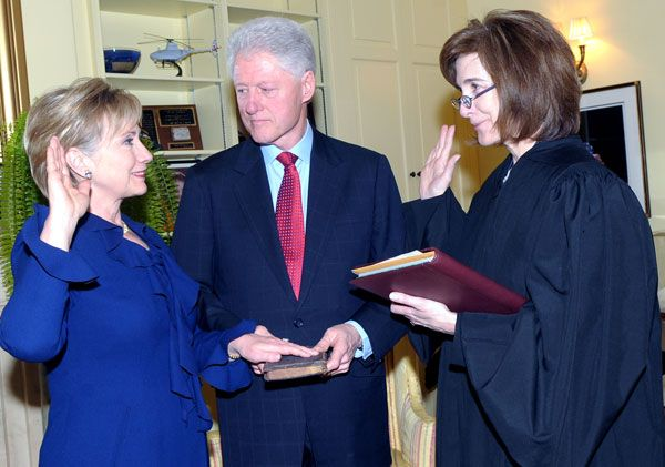 Bill Clinton defended Hillary Clinton to a protester on support for the 1994 crime bill. Photo: State.gov.