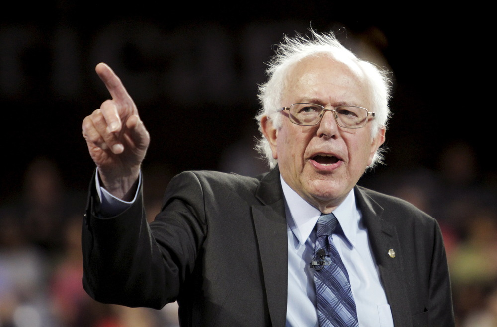Where Bernie Sanders leads, his supporters will gladly follow.      Image from CBSnews.com