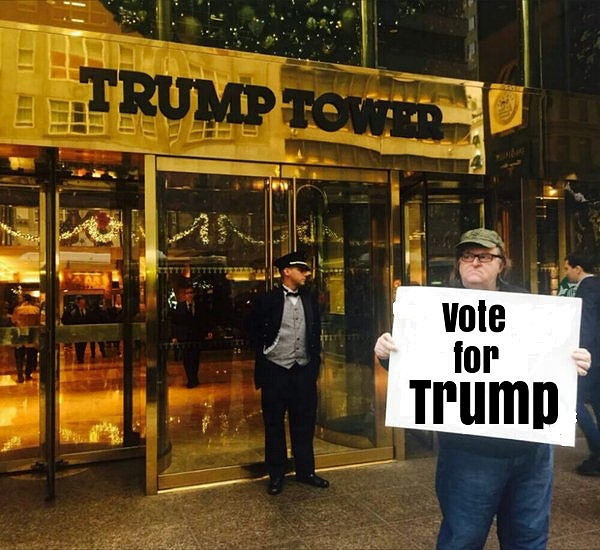 """Michael Moore: Vote for Trump"" by Sal Ami"